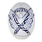 Zebra Awareness Ribbon Ornament (Oval)