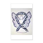 Zebra Awareness Ribbon Angel Art 20x12 Wall Decal