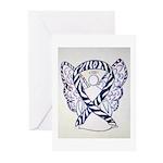 Zebra Ribbon Awareness Angel Greeting Cards 20 Pk