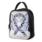 Zebra Awareness Ribbon Neoprene Lunch Bag