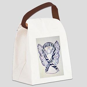 Zebra Awareness Ribbon Canvas Lunch Bag