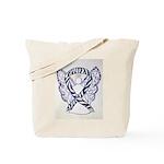Zebra Awareness Ribbon Angel Tote Bag