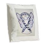 Zebra Awareness Ribbon Burlap Throw Pillow