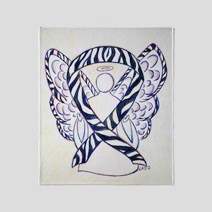 Zebra Awareness Ribbon Angel Art Throw Blanket
