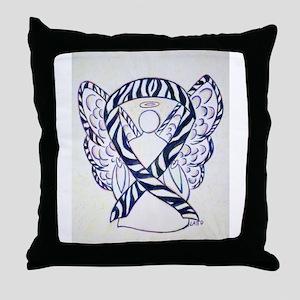 Zebra Awareness Ribbon Throw Pillow