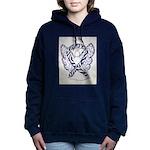 Zebra Awareness Ribbon Women's Hooded Sweatshirt