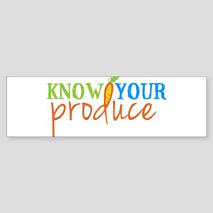 Know Your Produce Logo Bumper Sticker