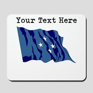 Custom Micronesia Flag Mousepad