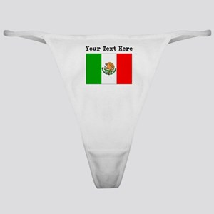 Custom Mexico Flag Classic Thong