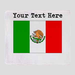 Custom Mexico Flag Throw Blanket