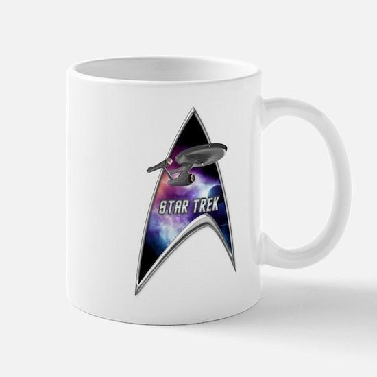 StarTrek Command Silver Signia Enterprise old Mugs