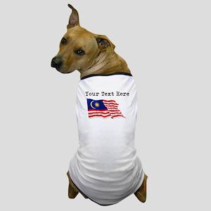 Custom Malaysia Flag Dog T-Shirt