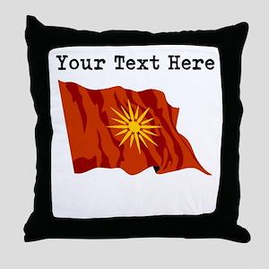 Custom Macedonia Flag Throw Pillow