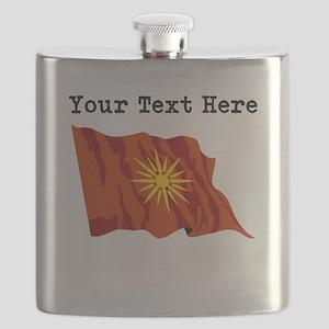 Custom Macedonia Flag Flask