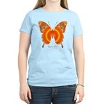 Summer Orange Butterfly Women's Light T-Shirt