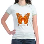 Summer Orange Butterfly Jr. Ringer T-Shirt