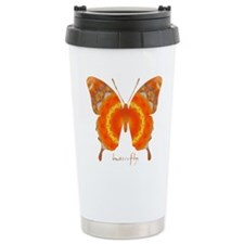 Summer Orange Butterfly Stainless Steel Travel Mug