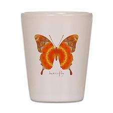 Summer Orange Butterfly Shot Glass