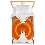 Summer Orange Butterfly Twin Duvet