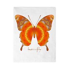 Summer Orange Butterfly Twin Duvet