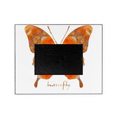 Summer Orange Butterfly Picture Frame