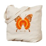 Summer Orange Butterfly Tote Bag