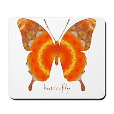 Summer Orange Butterfly Mousepad