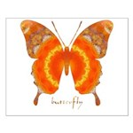 Summer Orange Butterfly Small Poster