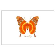 Summer Orange Butterfly Large Poster