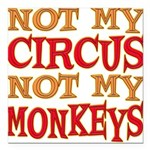 Not my Circus Square Car Magnet 3