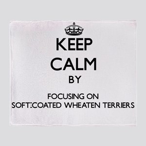 Keep calm by focusing on Soft-Coated Throw Blanket