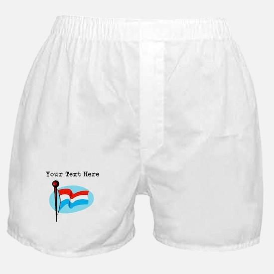 Custom Luxembourg Flag Boxer Shorts