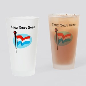 Custom Luxembourg Flag Drinking Glass