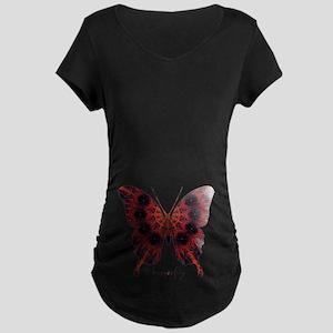 Talisman Black Butterfly Maternity Dark T-Shirt