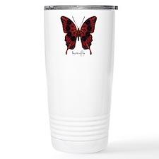 Talisman Black Butterfly Stainless Steel Travel Mu