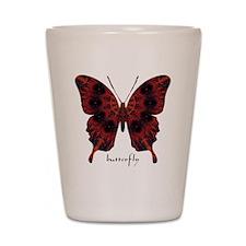 Talisman Black Butterfly Shot Glass