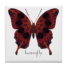 Talisman Black Butterfly Tile Coaster
