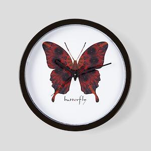 Talisman Black Butterfly Wall Clock