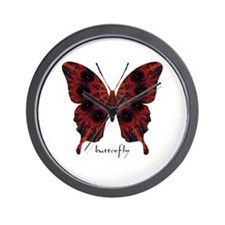 Talisman Black Butterfly Wall Clock