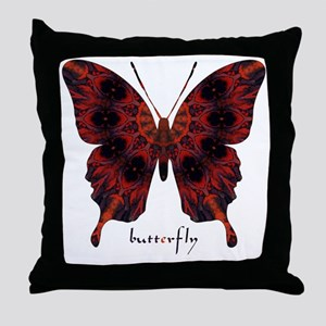 Talisman Black Butterfly Throw Pillow
