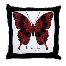 Talisman Black Butterfly Throw Pillow