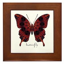 Talisman Black Butterfly Framed Tile
