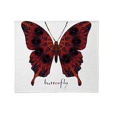 Talisman Black Butterfly Throw Blanket