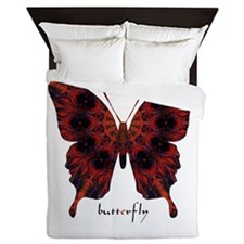 Talisman Black Butterfly Queen Duvet