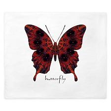 Talisman Black Butterfly King Duvet