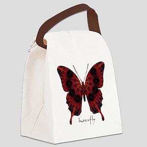 Talisman Black Butterfly Canvas Lunch Bag