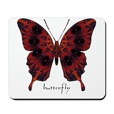Talisman Black Butterfly Mousepad