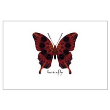 Talisman Black Butterfly Large Poster