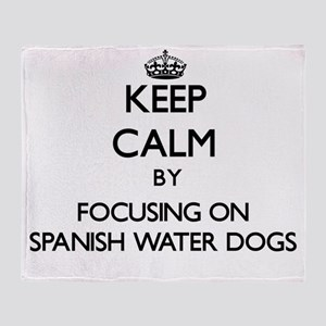 Keep calm by focusing on Spanish Wat Throw Blanket