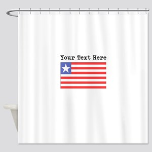 Custom Liberia Flag Shower Curtain